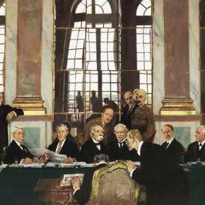 Painting of the signing of Treaty of Versailles