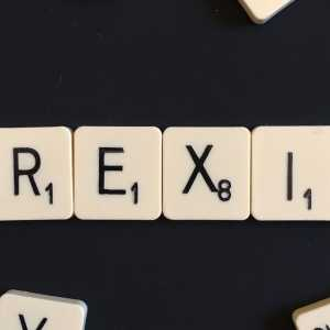 The word 'Brexit' spelled out in scrabble.
