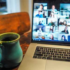 Photo of a video conference