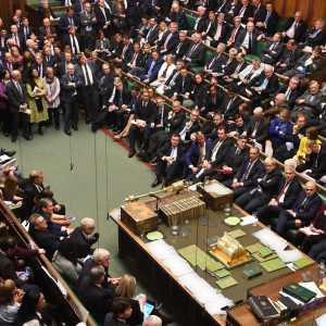The House of Commons debating the Withdrawal Agreement during the Saturday-sitting on 19 October, 2019