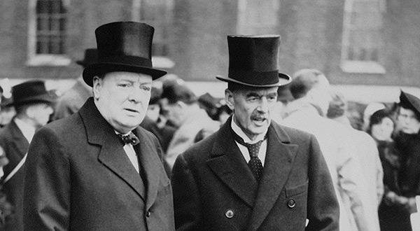 Winston Churchill and Neville Chamberlain, March 1939