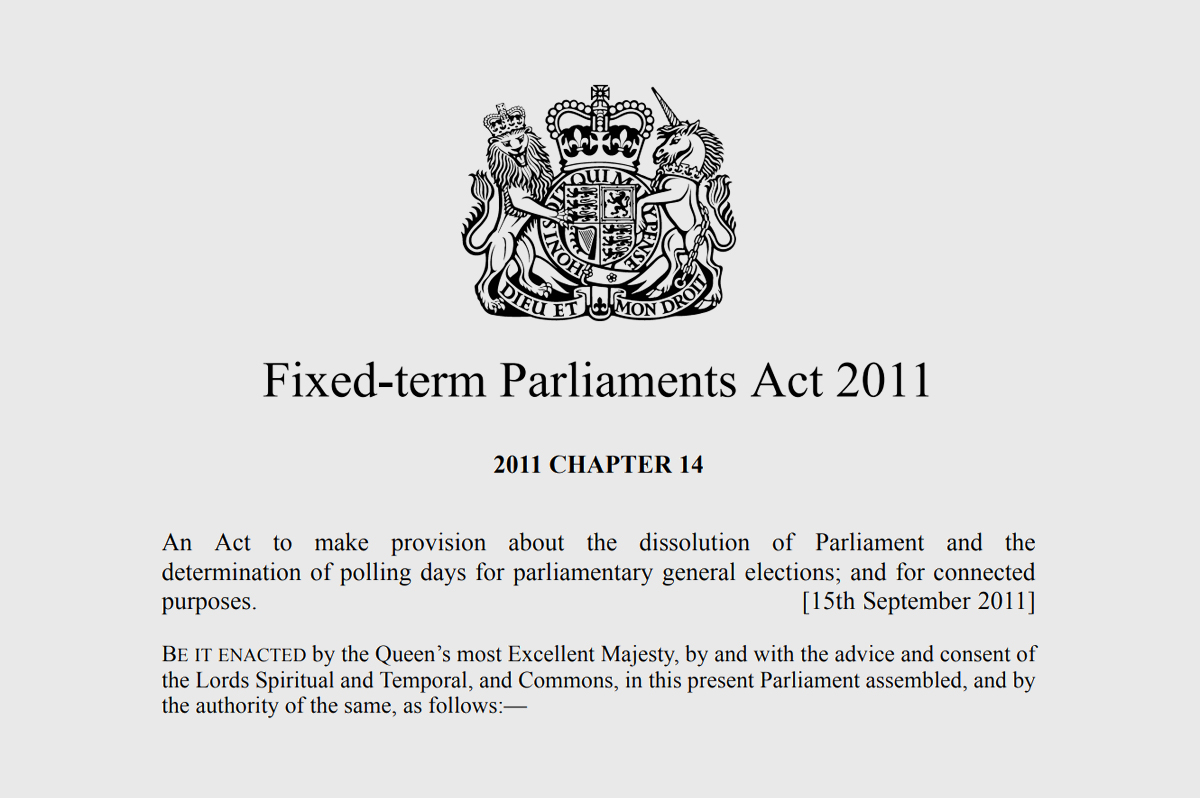 The Fixed Term Parliament Act 2011