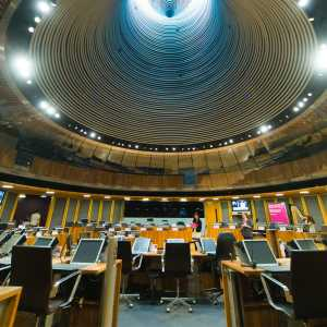 Photo of the chamber at the Welsh Assembly