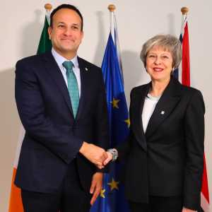 UK Prime Minister Theresa May and Irish Taoiseach Leo Varadkar