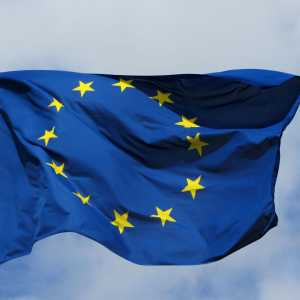The flag of the European Union (EU).