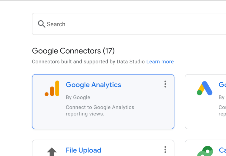 Google Analytics connector