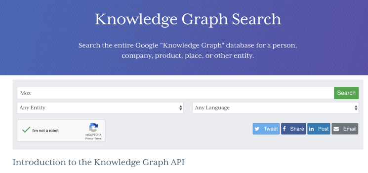 Knowledge graph search