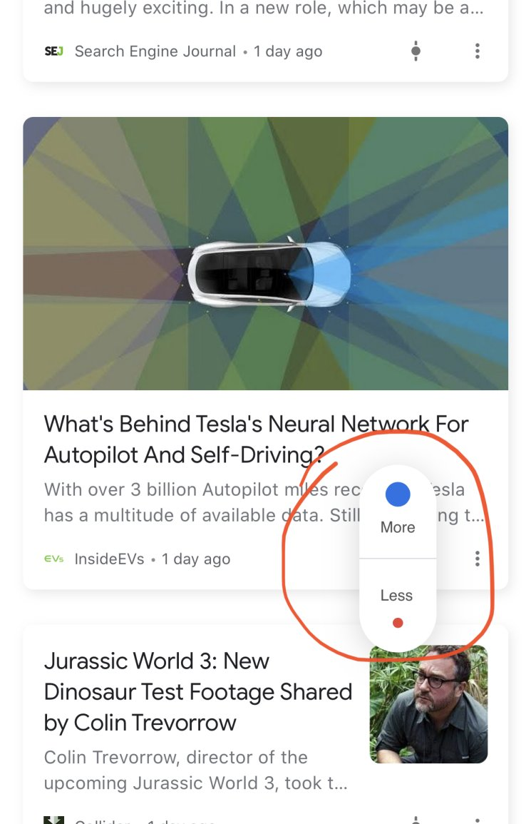 Google discover fine tuning