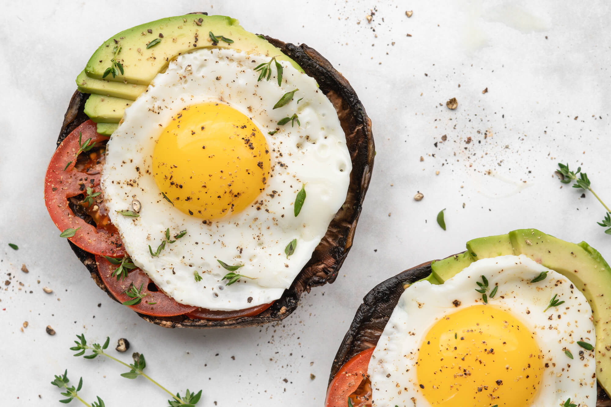 Portobello Egg Avocado Toasts