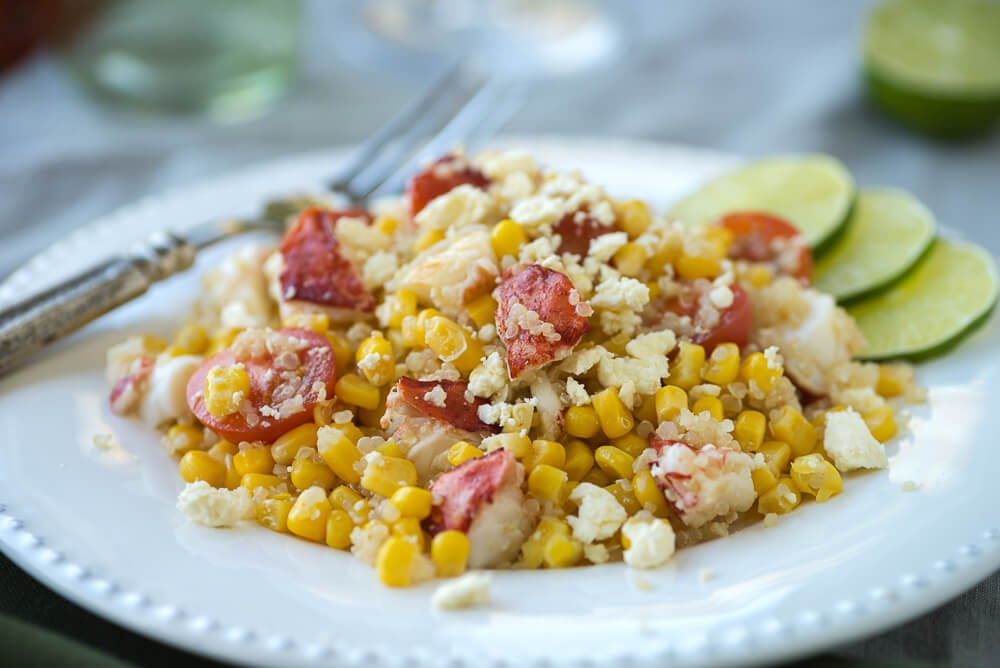 Lobster Quinoa Salad with corn Tomatoes and Basil 3 (1)