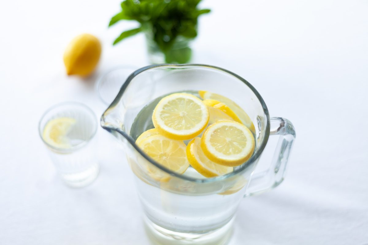 Drink lemon water hydration