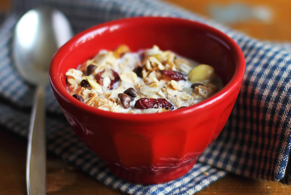 Cranberry Almond quinoa cereal or oatmeal