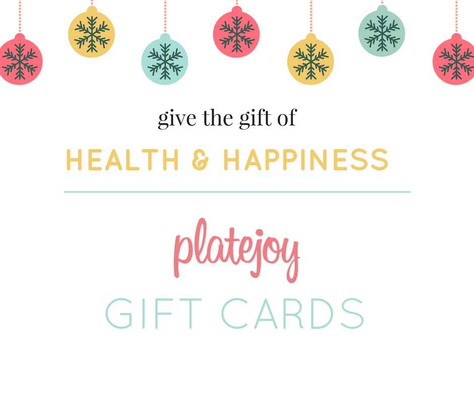 PlateJoy Gift Cards 2016