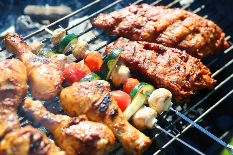 Adapt recipes for the grill