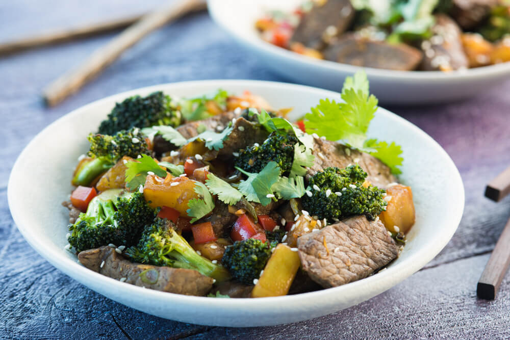 Hawaiian steak stirfry with rice