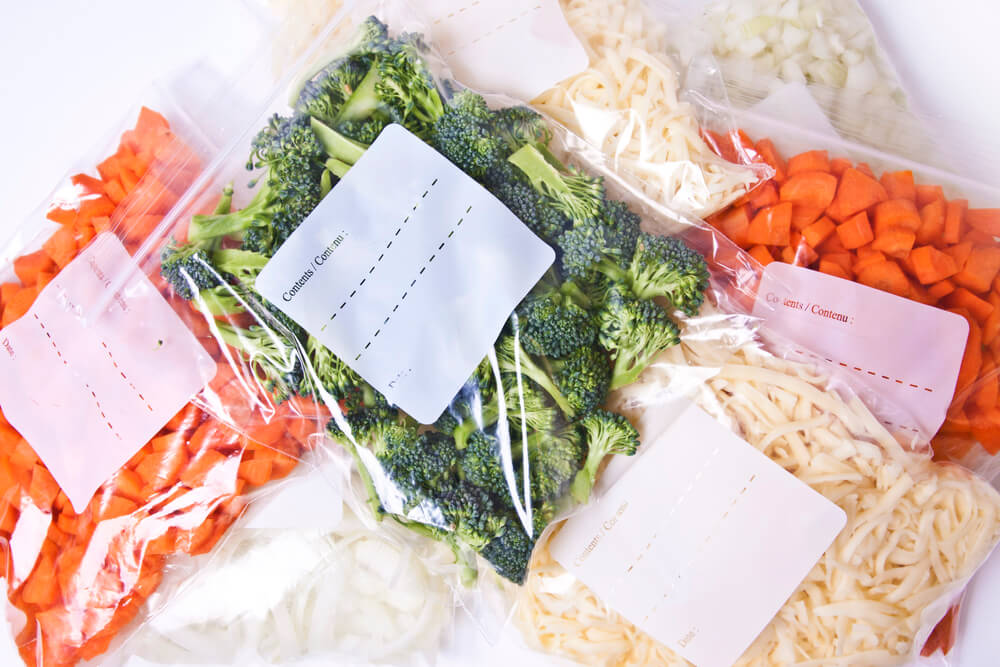 Freezer bag veggies meal prep