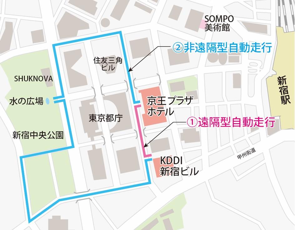 西新宿エリアで5Gを活用した自動運転タクシーの実証実験(フェーズⅡ)を始動 〜環境改善委員会と西新宿版スマートシティ推進に向けた連携協定を締結します〜