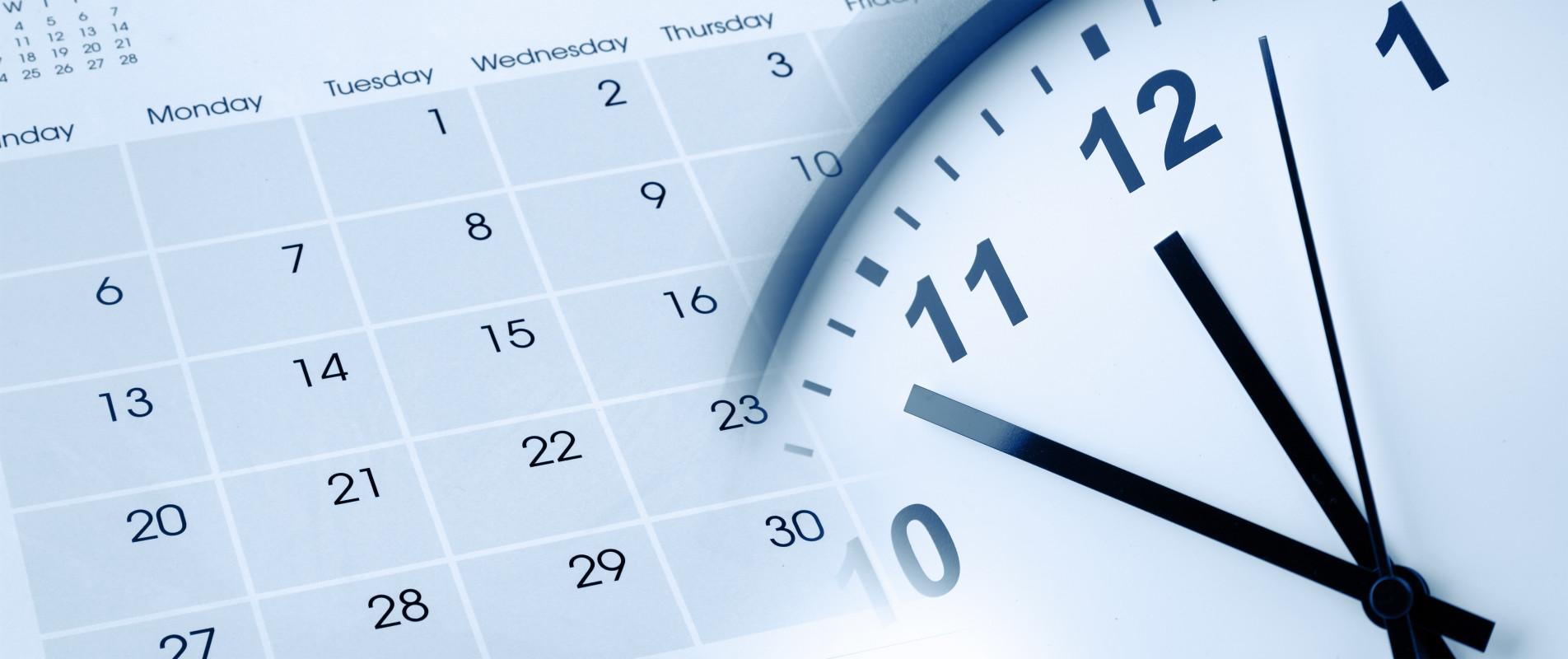 Umbuchen und Stornieren - Uhr und Kalender