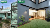 Before. A rundown cottage ins Prahran Victoria. After. A contemporary indoor-outdoor extension to suit a modern lifestyle.