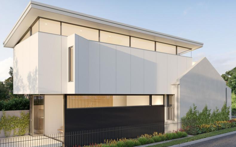 hardie fine texture cladding glebe terrace modern extension concept lights on jameshardie-2-scaled