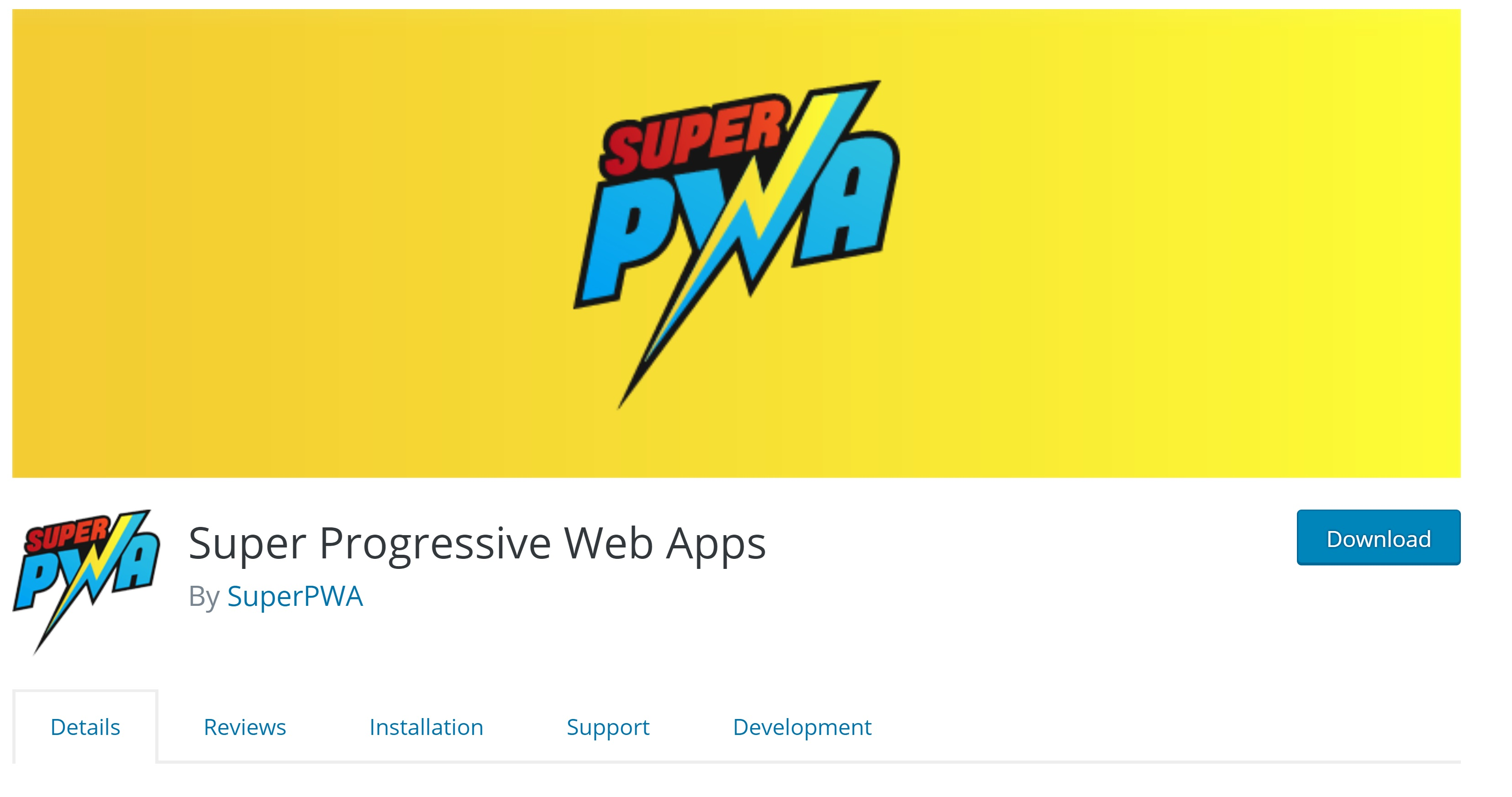 Super Progressive Web Apps enables PWA on your website