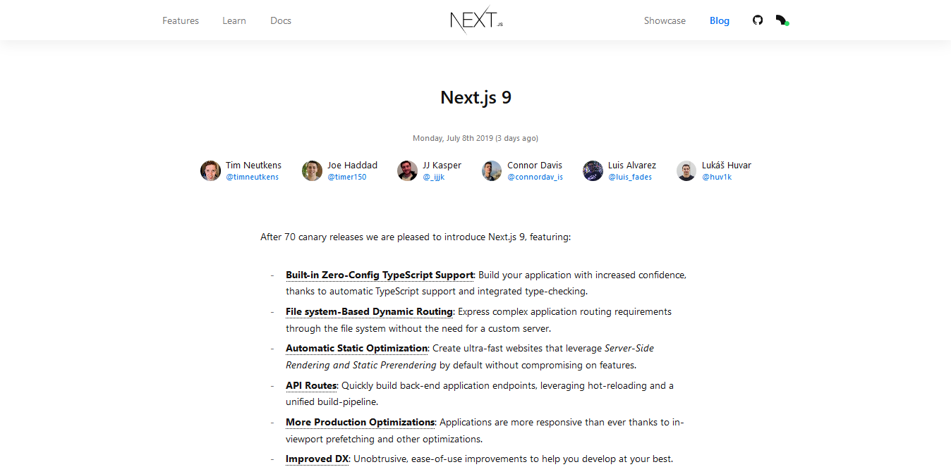 NextJs 9 Blog Post