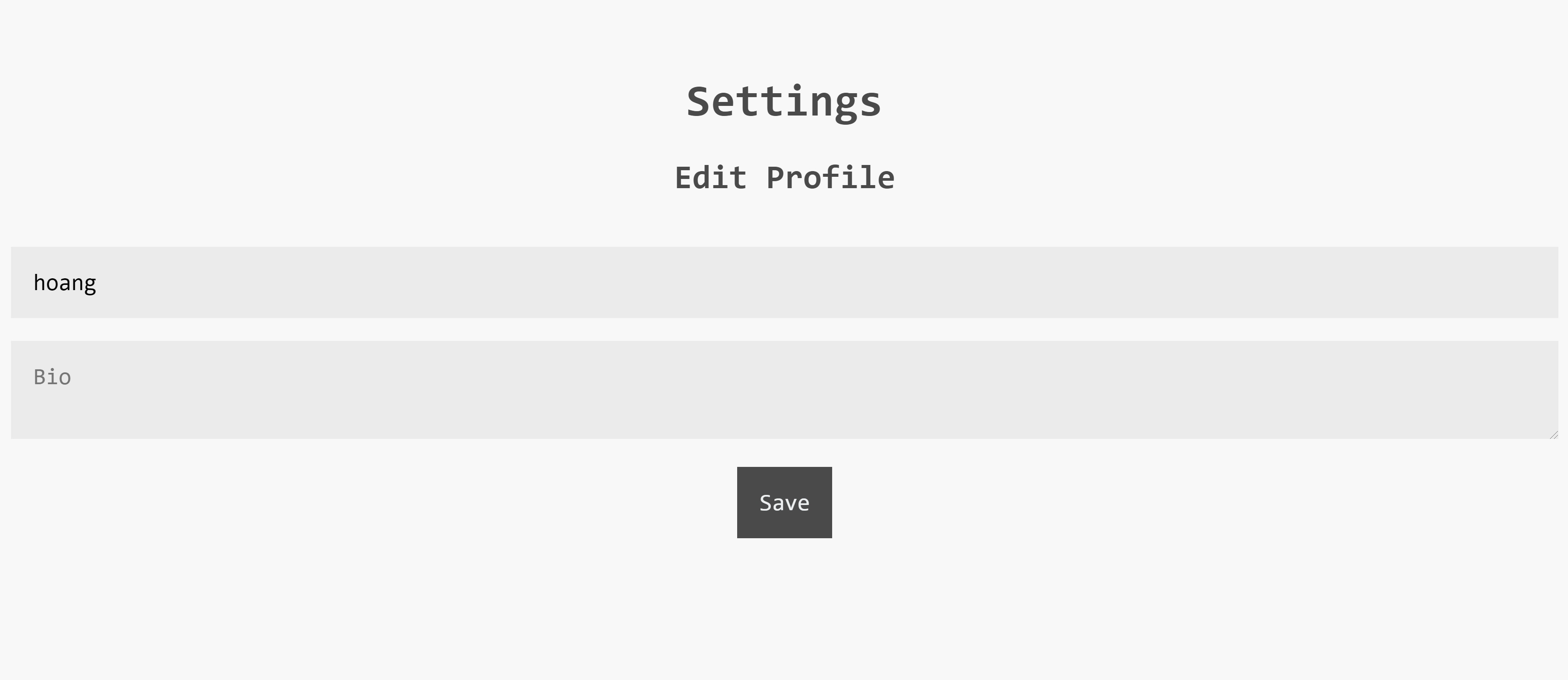 Profile Settings Page - How I build a full-fledged app with Next.js and MongoDB