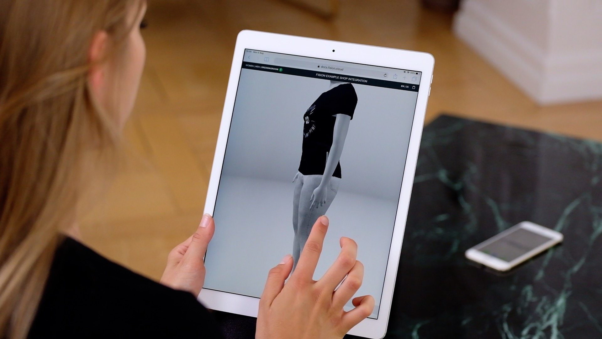 Virtual Dressing Room With Personal 3d Body Avatar Fision