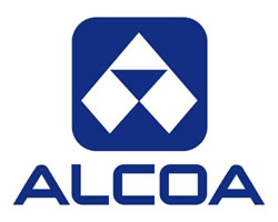 Aloca logo in blue