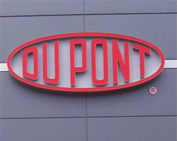 DuPont logo in red