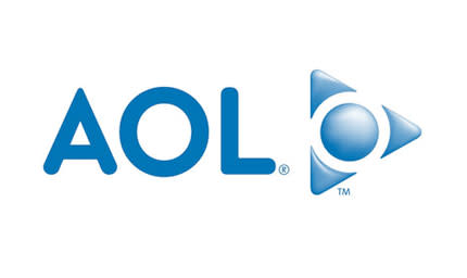 AOL logo in blue