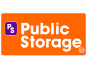 Public Storage logo in orange