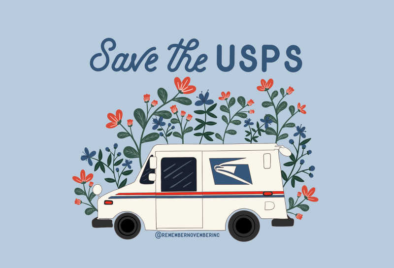 Save the USPS logo