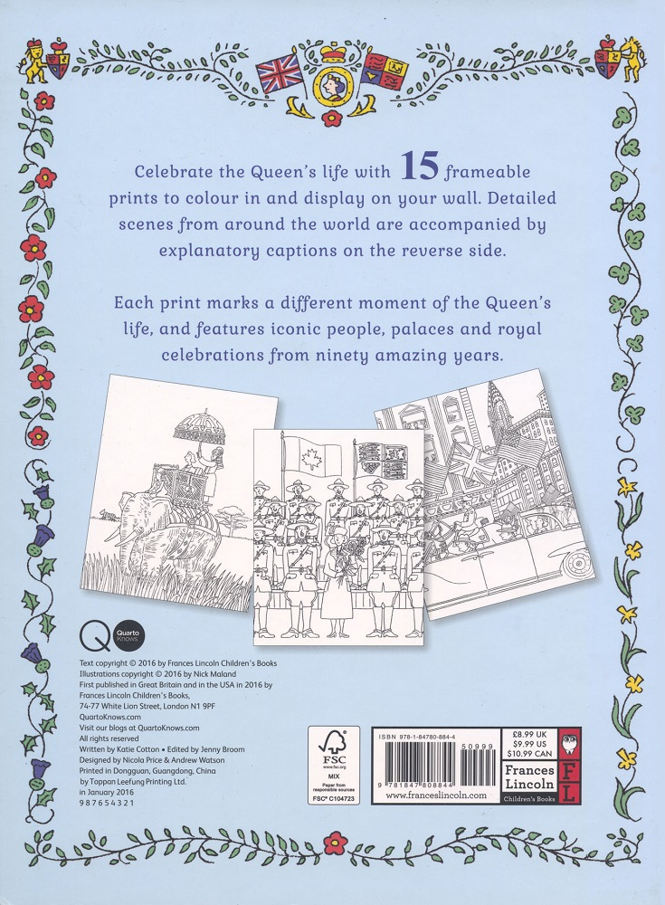 Colour In The Queen Back Cover