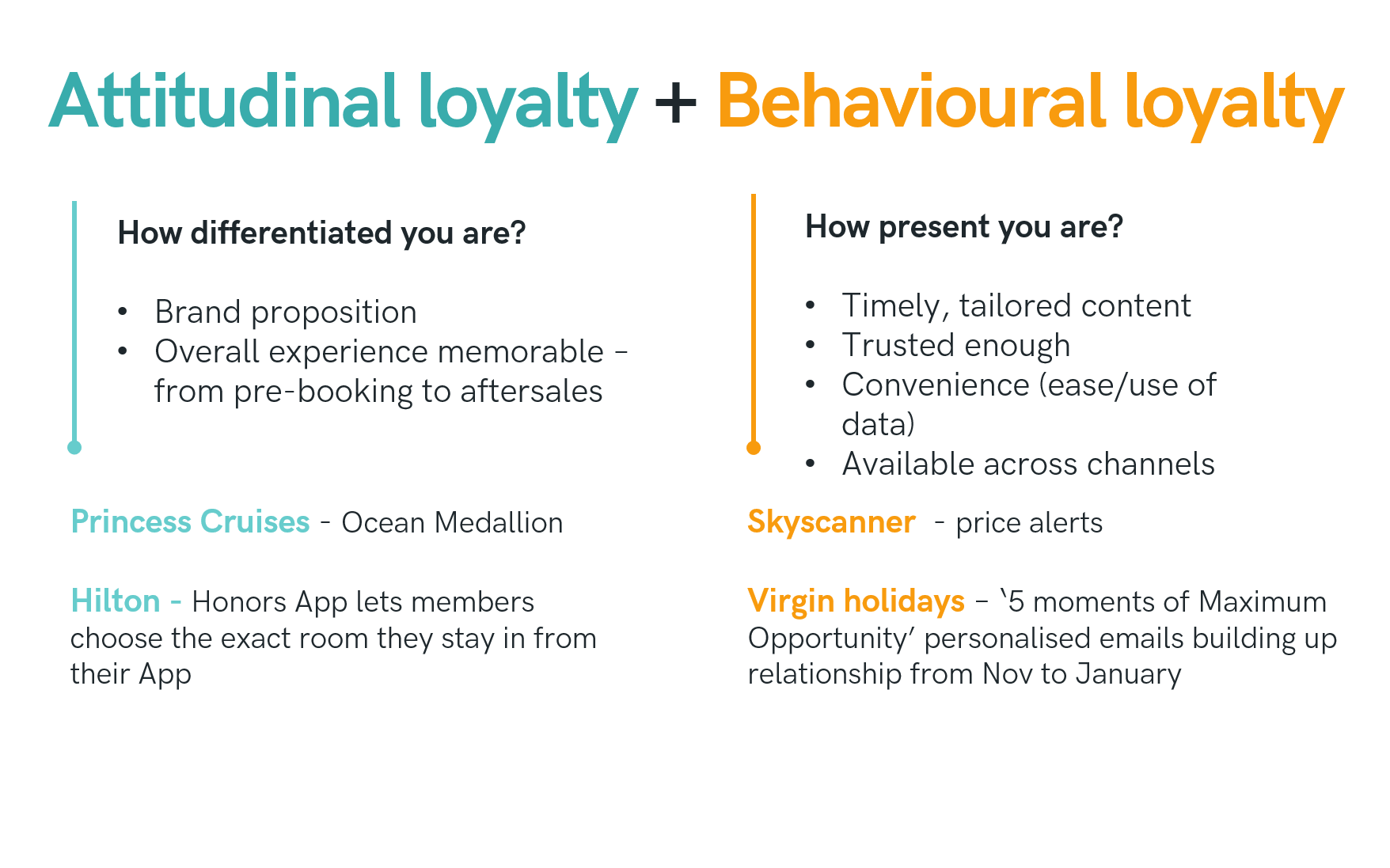 Attitudinal and Behavioural loyalty