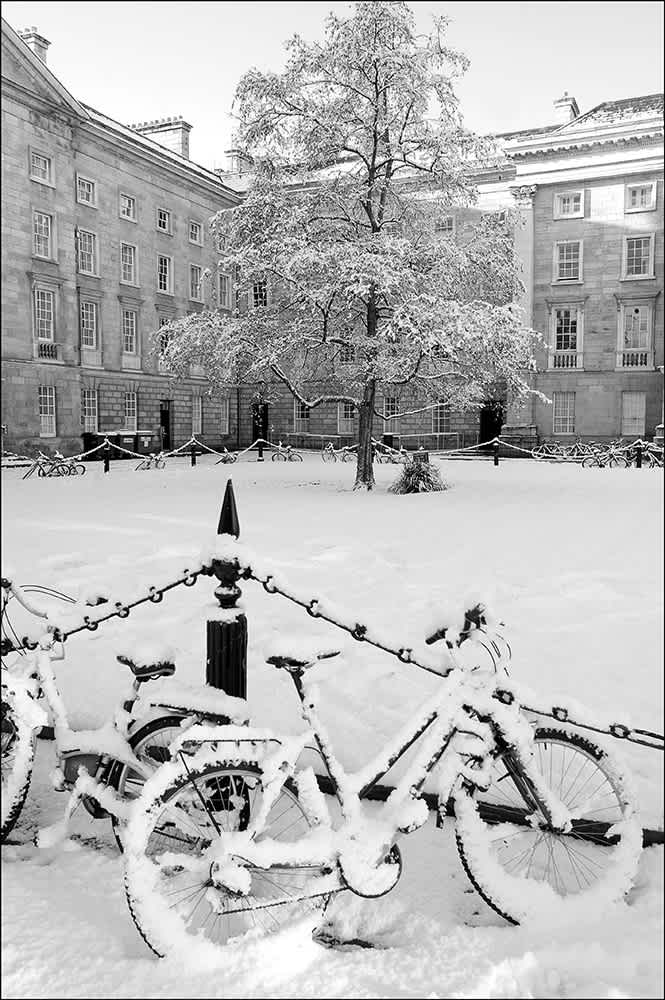 D94 - Trinity College in the Snow.