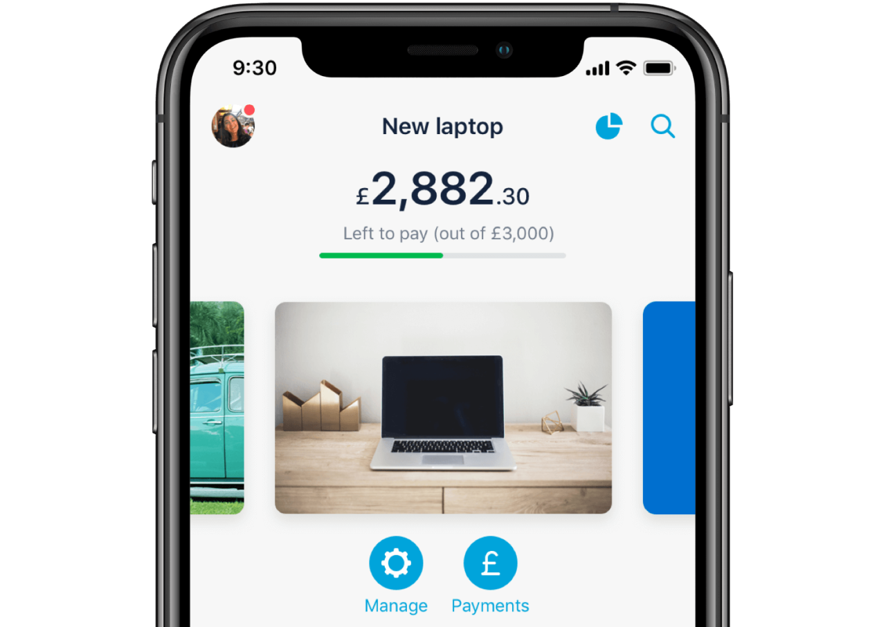Image of an iPhone showing a loan in the Monzo app.