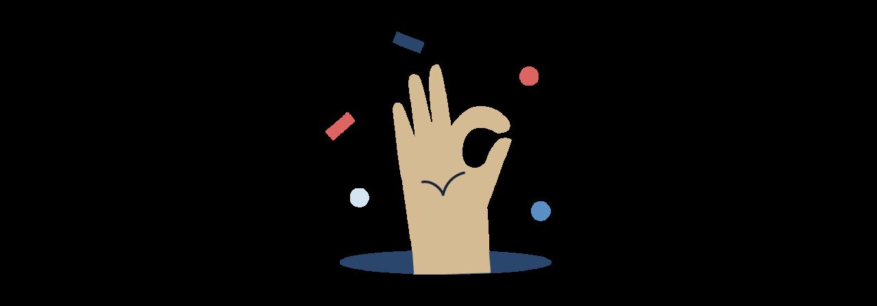 Hand doing an 'OK' sign