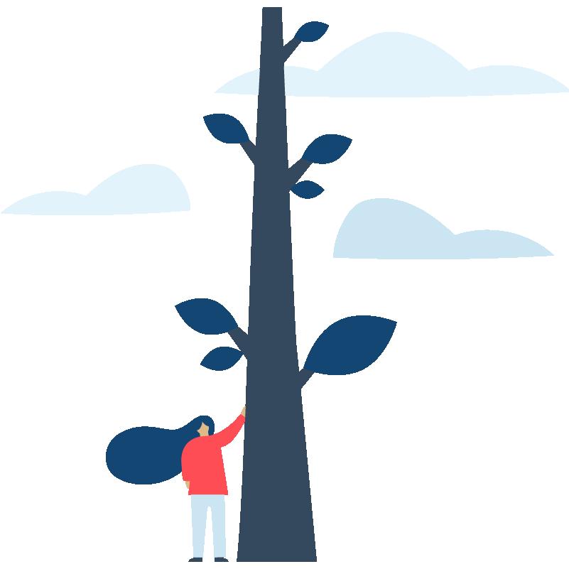 woman-tree