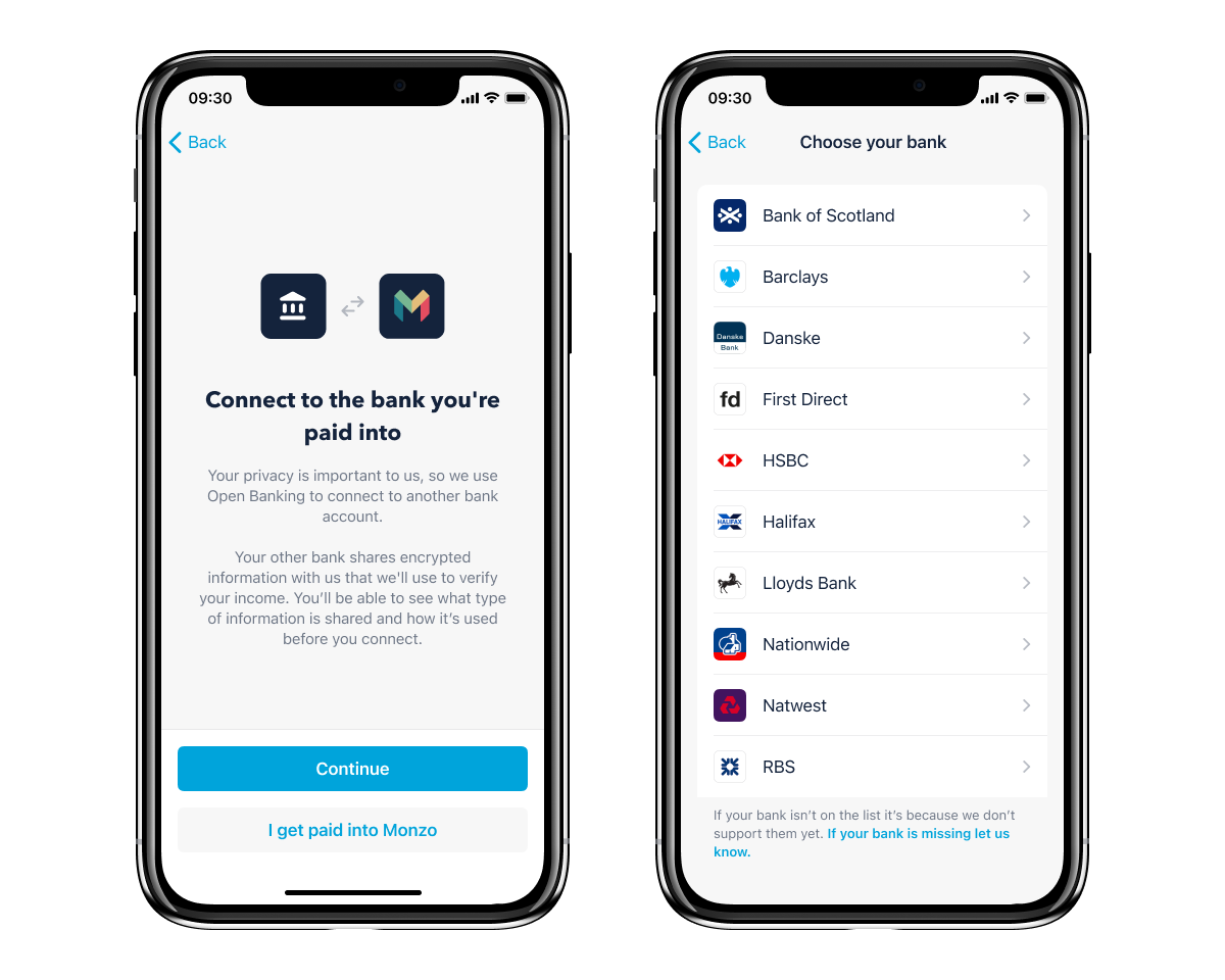 Open Banking - overdraft income verification