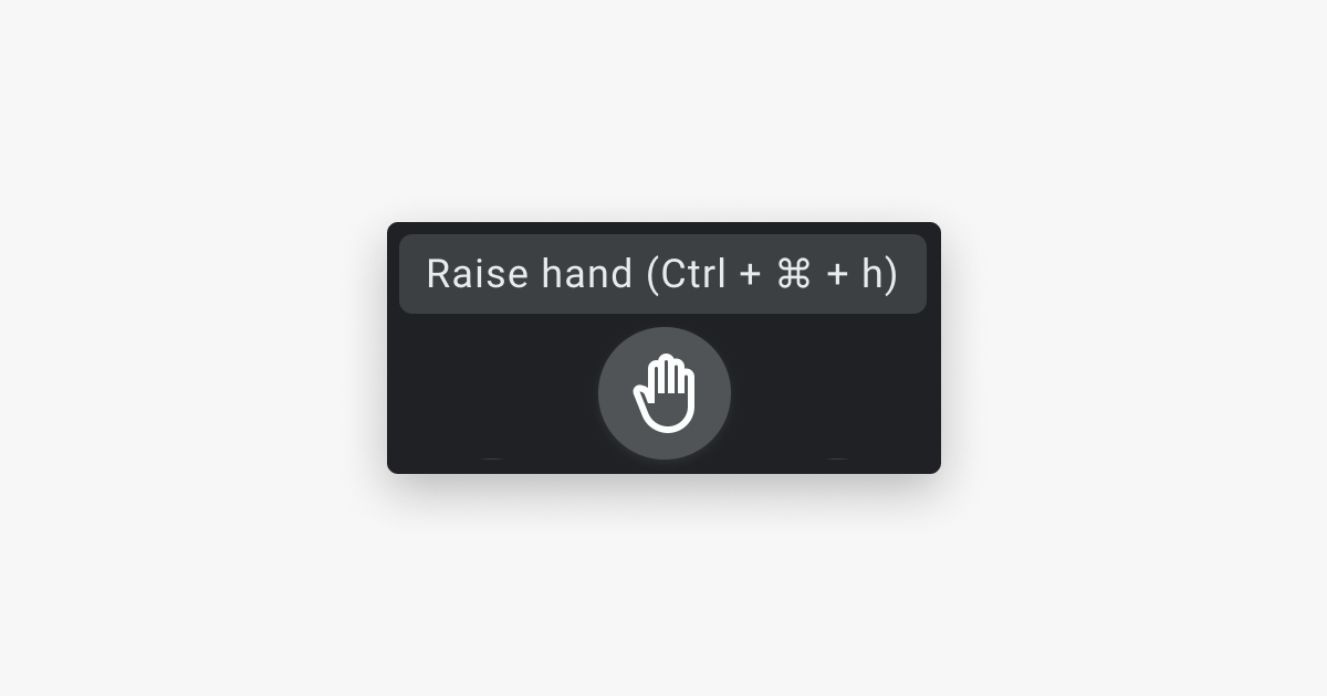 raised hand icon in Google Hangouts
