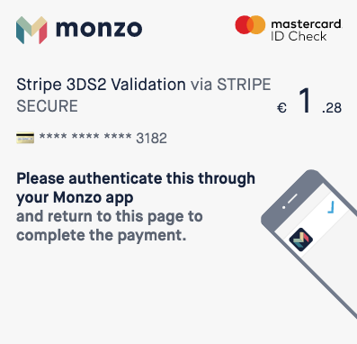 Image of 3D Secure with Monzo