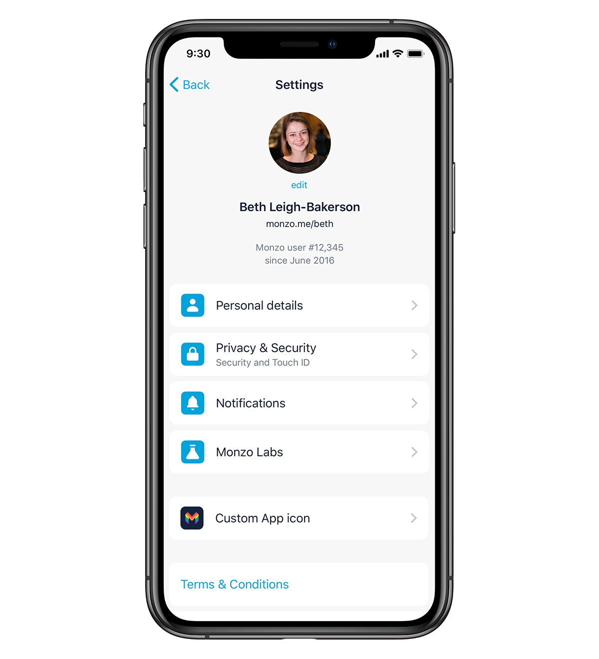 Sneak peek of tidier settings screen