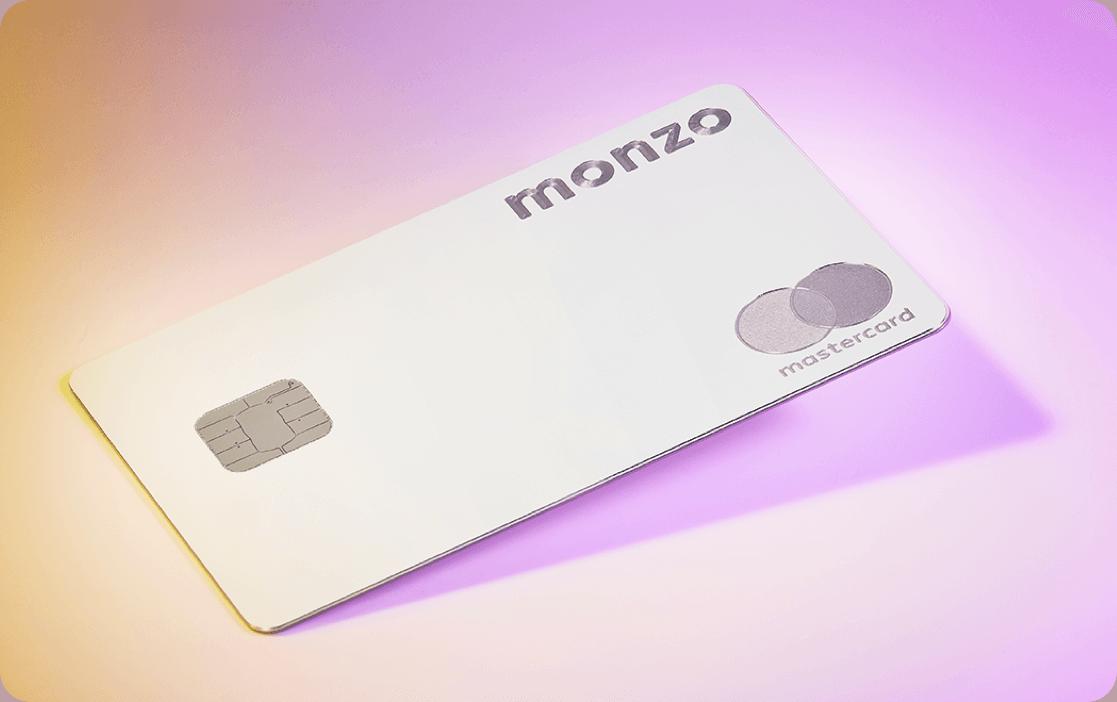Monzo Premium - Metal card with gradient background