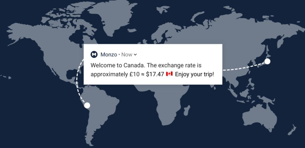 how to use monzo abroad