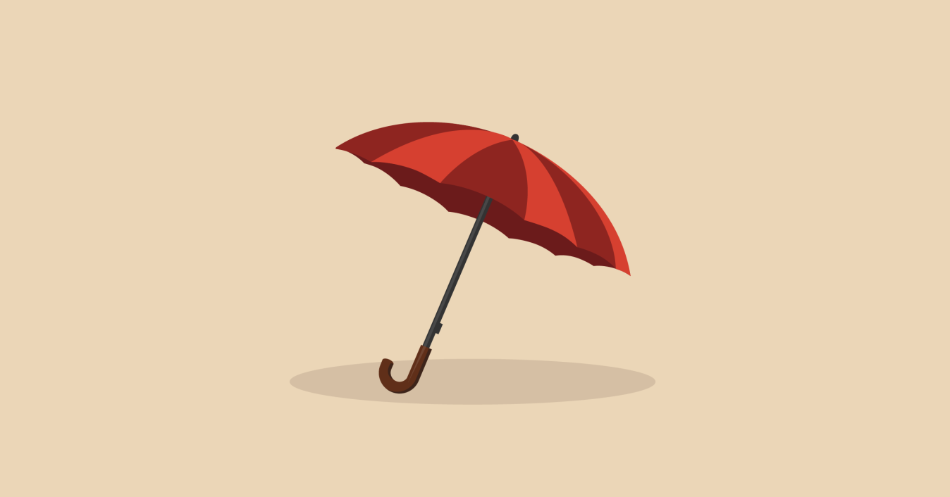 Image of an umbrella - how to pay off a credit card