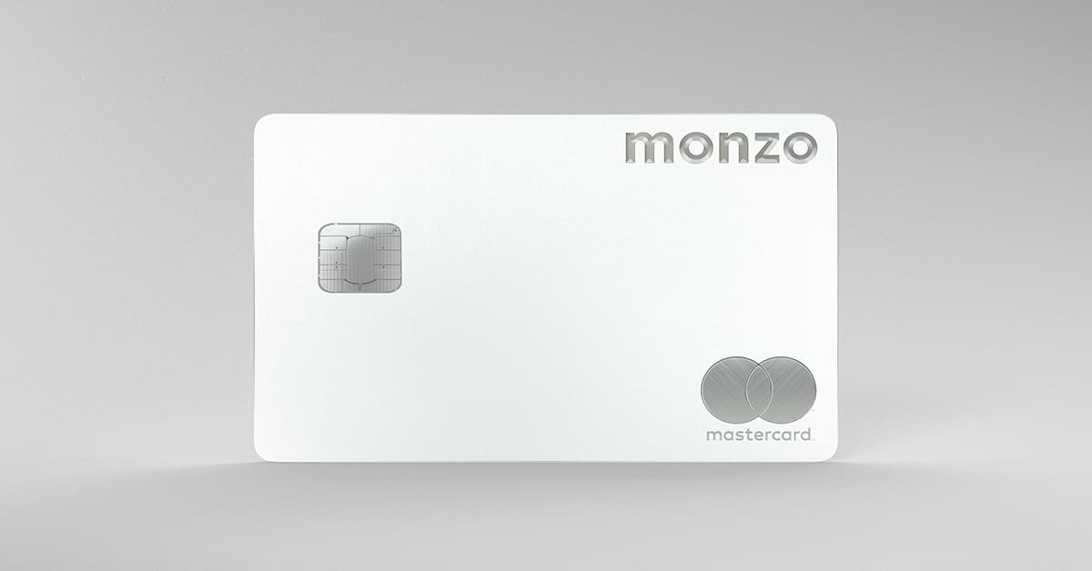 Our new white metal card, exclusive to Monzo Premium