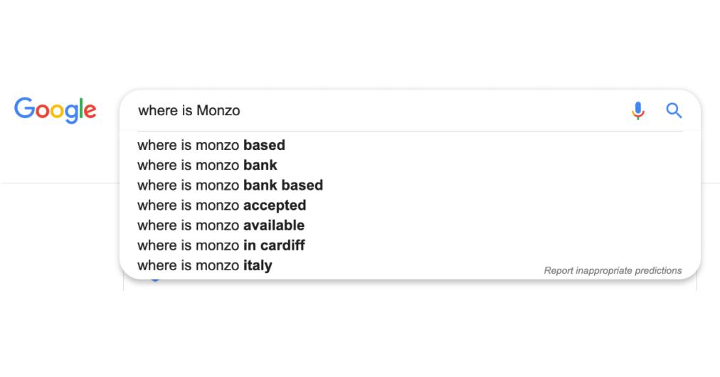 Where is Monzo google