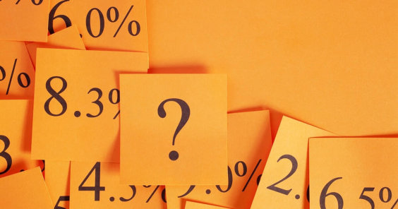 orange post it notes with question marks on