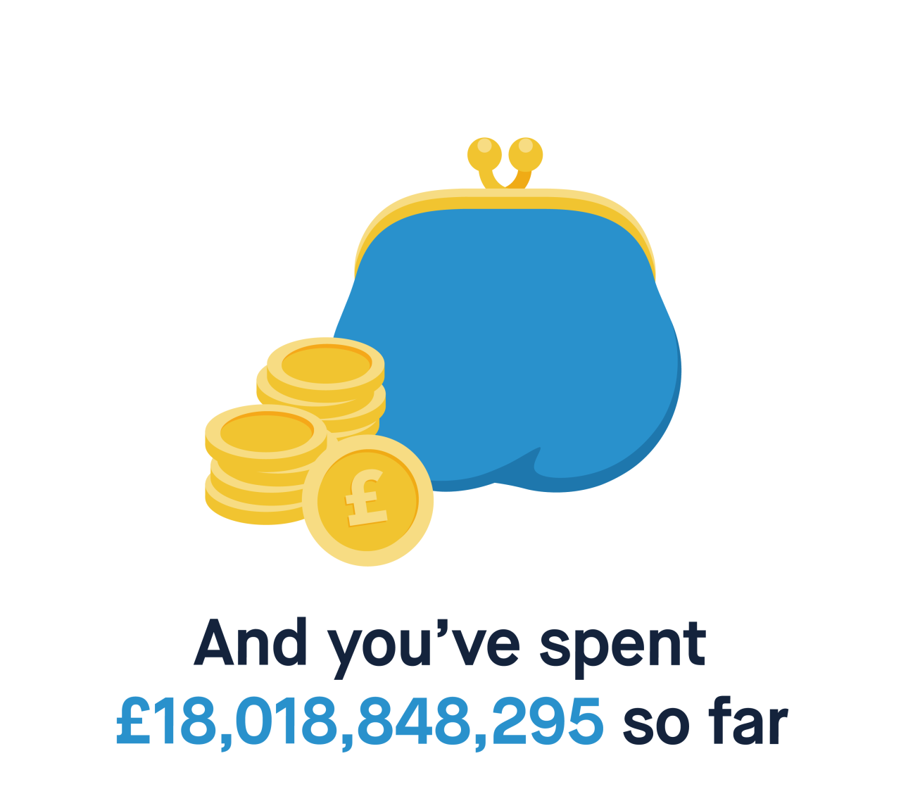 And you've spent £18,018,848,295 so far